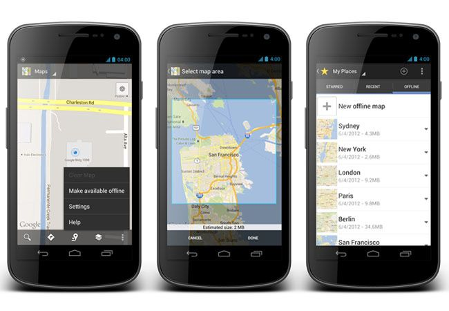 Google Maps Offline para Android