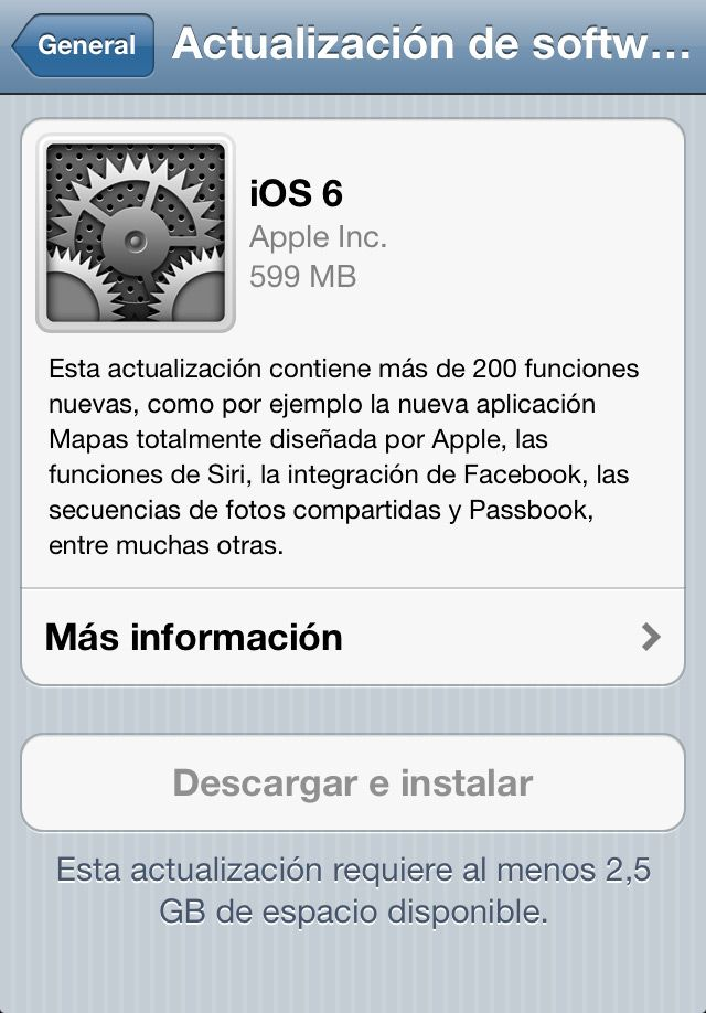 iOS 6 ya disponible